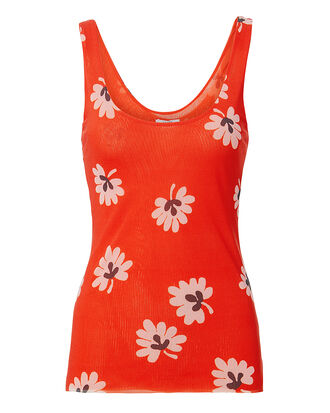 Tilden Red Floral Tank, RED, hi-res