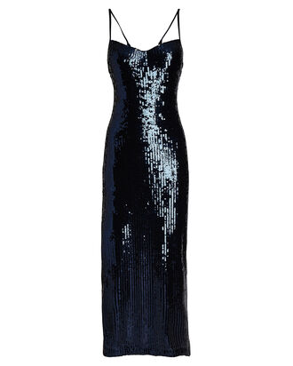 Berlin Sequined Bustier Dress, NAVY, hi-res