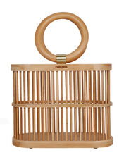 Coco Mini Cage Bag, BEIGE, hi-res