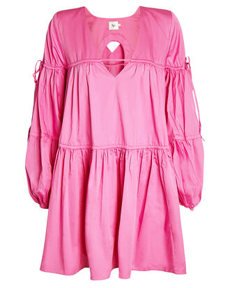 Allégro Gathered Tent Dress, PINK, hi-res