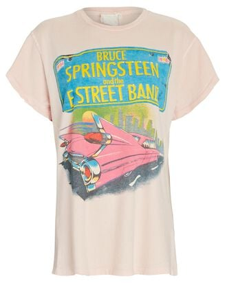 Springsteen Graphic T-Shirt, PINK, hi-res