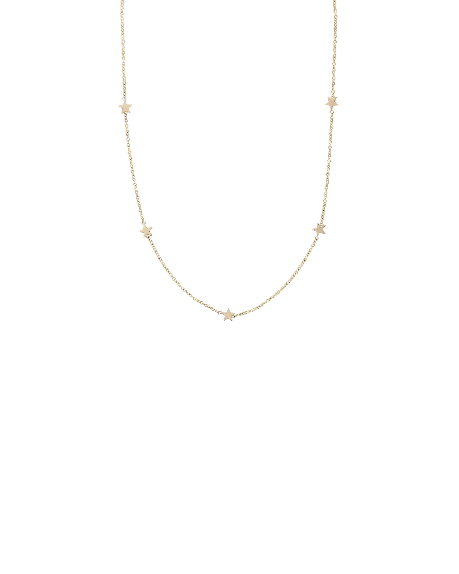 Itty Bitty Star Necklace, GOLD, hi-res