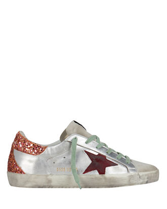 Superstar Glitter Low-Top Sneakers, SILVER/RED, hi-res