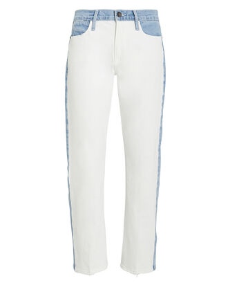 Le High Blocking Jeans, WHITE/INDIGO, hi-res