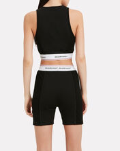 Wash & Go Logo Crop Top, BLACK, hi-res