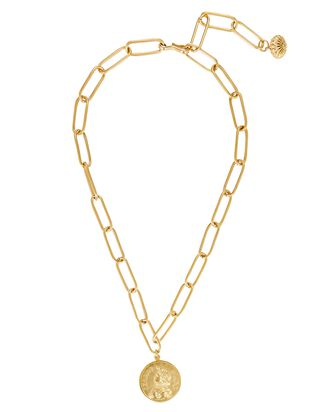 Heroine Paperclip Lariat Necklace, GOLD, hi-res