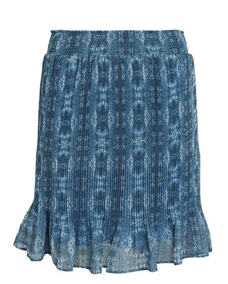 Arlo Pleated Mini Skirt, BLUE, hi-res