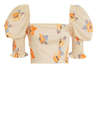 Floral Bustier Top, MULTI, hi-res