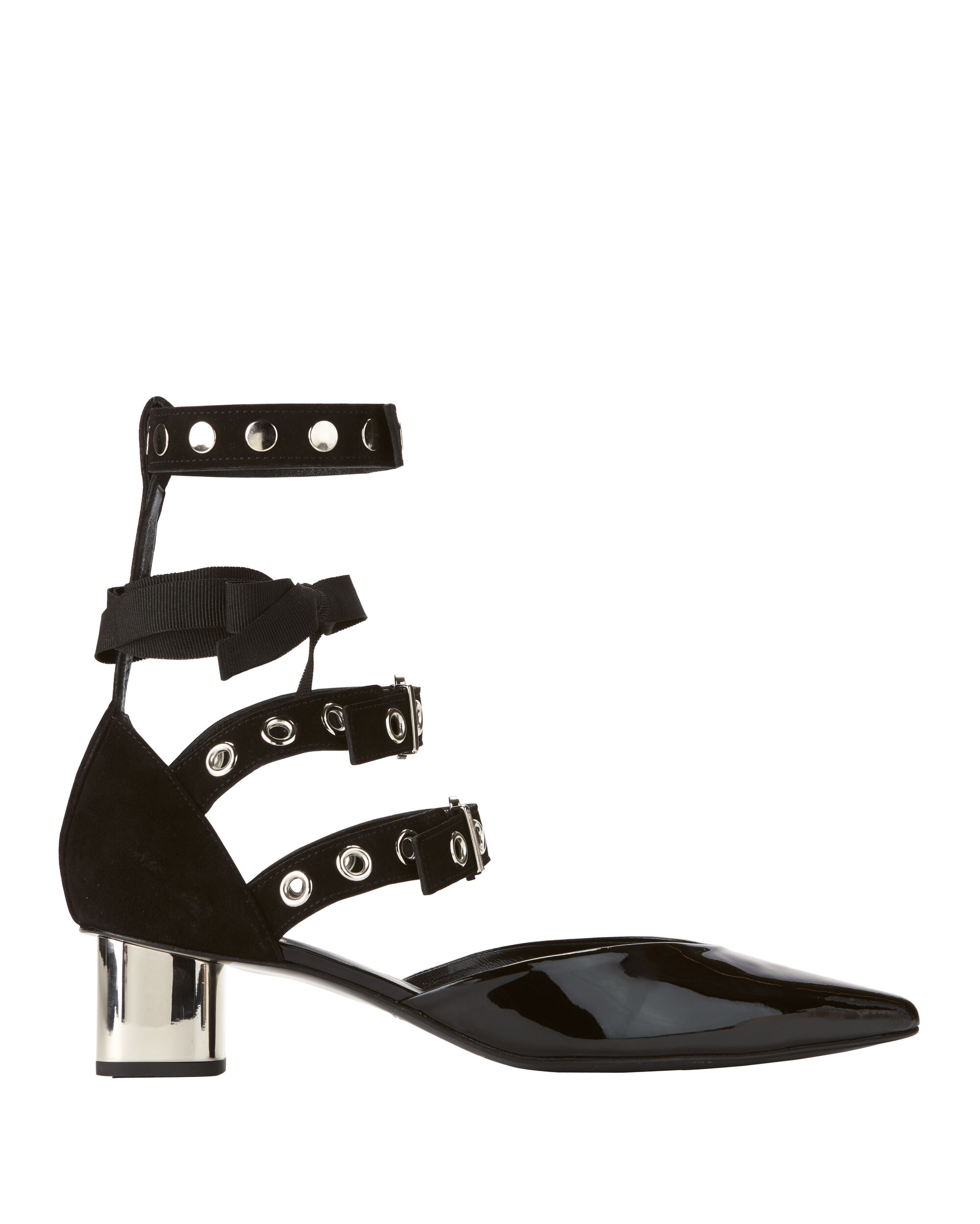 Robert Clergerie X Self-Portrait Susa Ankle Strap Pumps, BLACK, hi-res