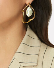 Formation Pearl Earrings, GOLD, hi-res