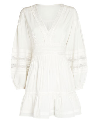 Bettina Cotton Peasant Mini Dress, IVORY, hi-res
