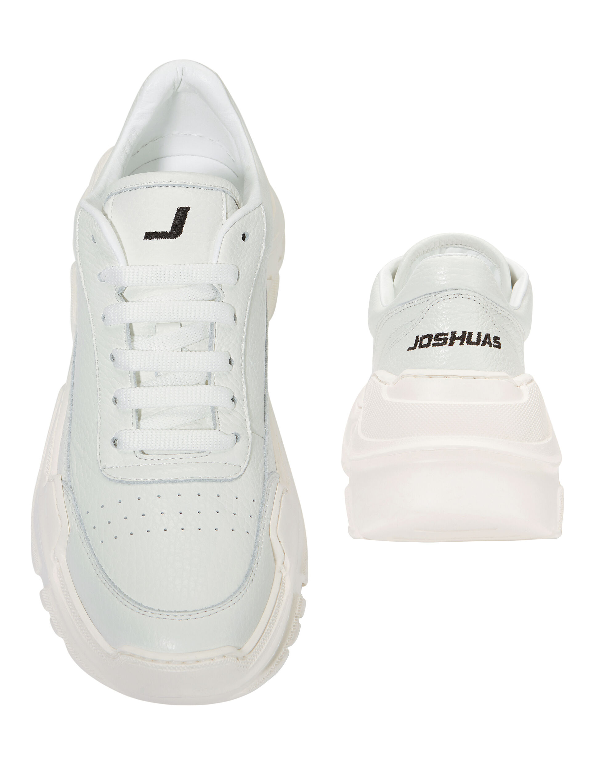 Zenith Low-Top White Sneakers, WHITE, hi-res