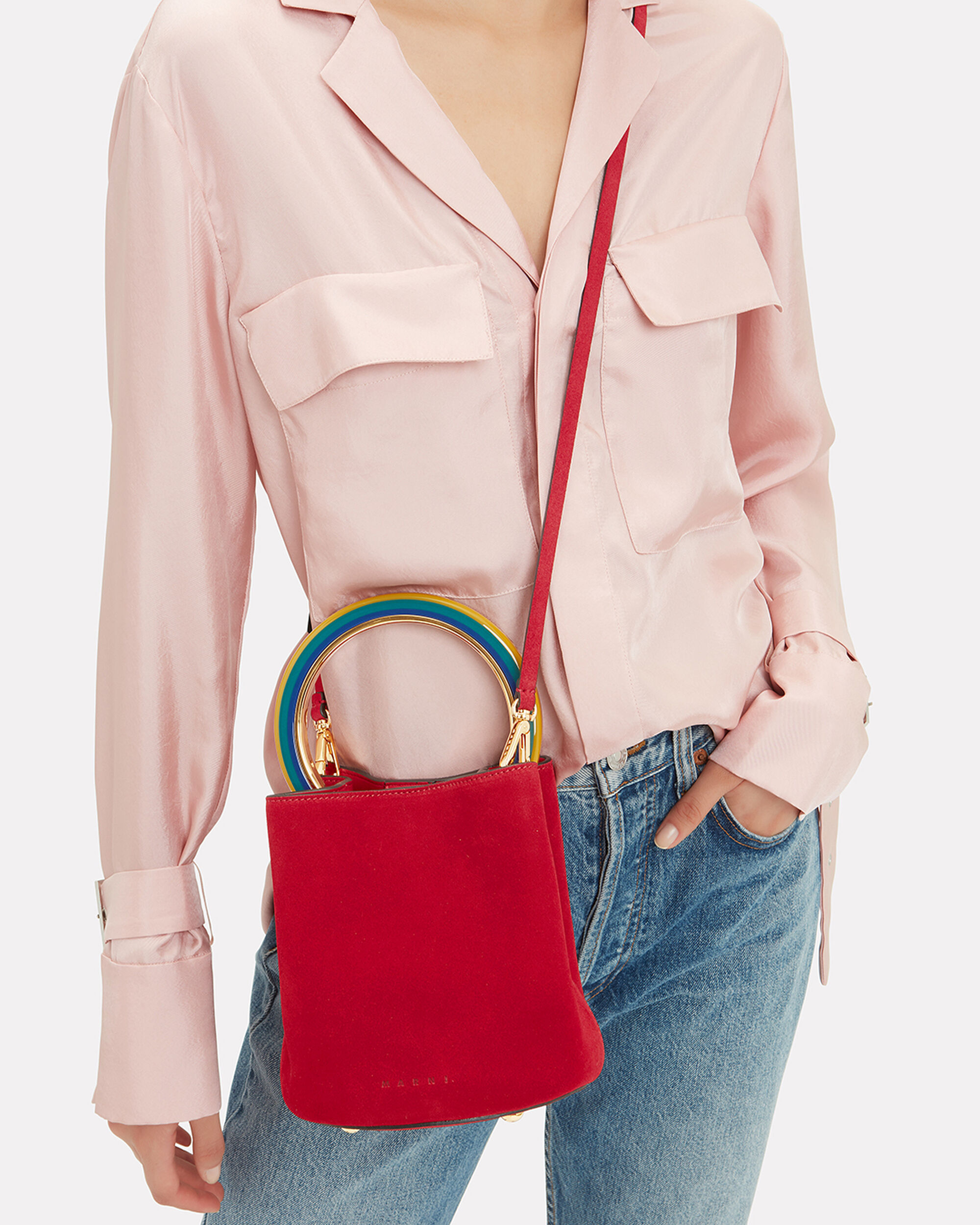 Pannier Bucket Bag, RED, hi-res