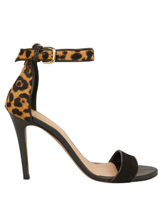 Roan Leopard Calf Hair Sandals, BLACK/LEOPARD, hi-res