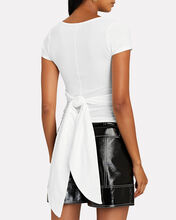 Jeanne Ruched T-Shirt, WHITE, hi-res