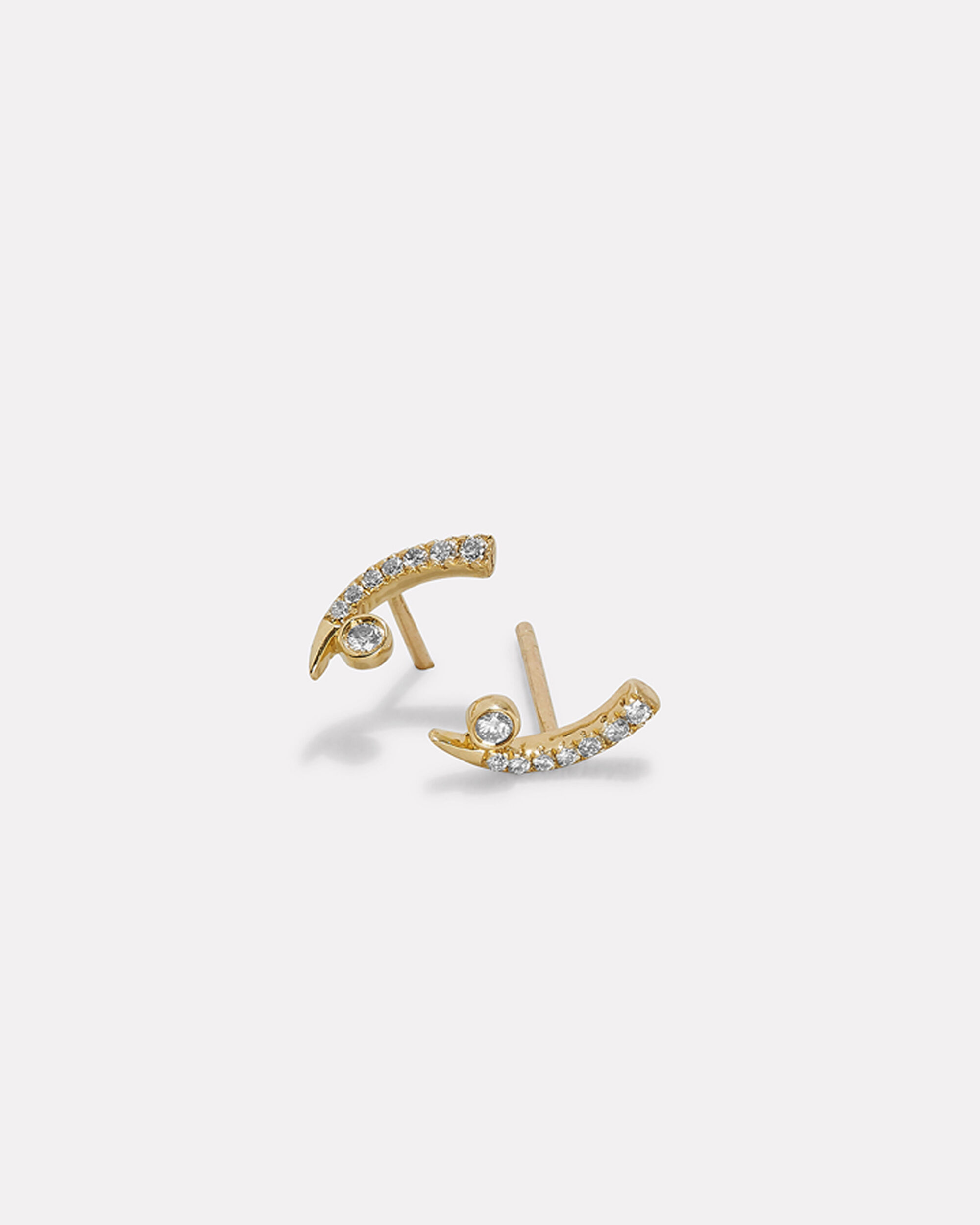 Pave Tusk With Bezel Studs, GOLD, hi-res