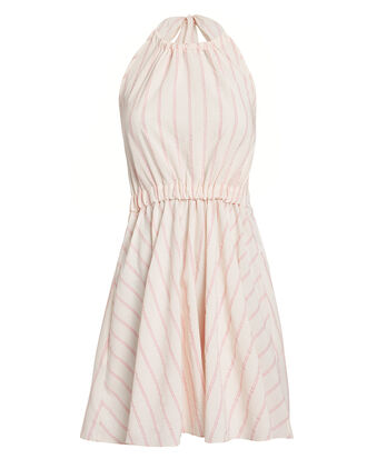 Aweke Halter Striped Mini Dress, PALE PINK, hi-res