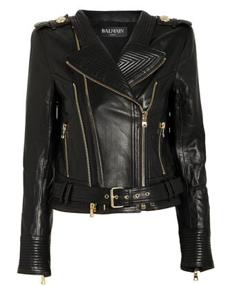 Cropped Leather Moto Jacket, BLACK, hi-res