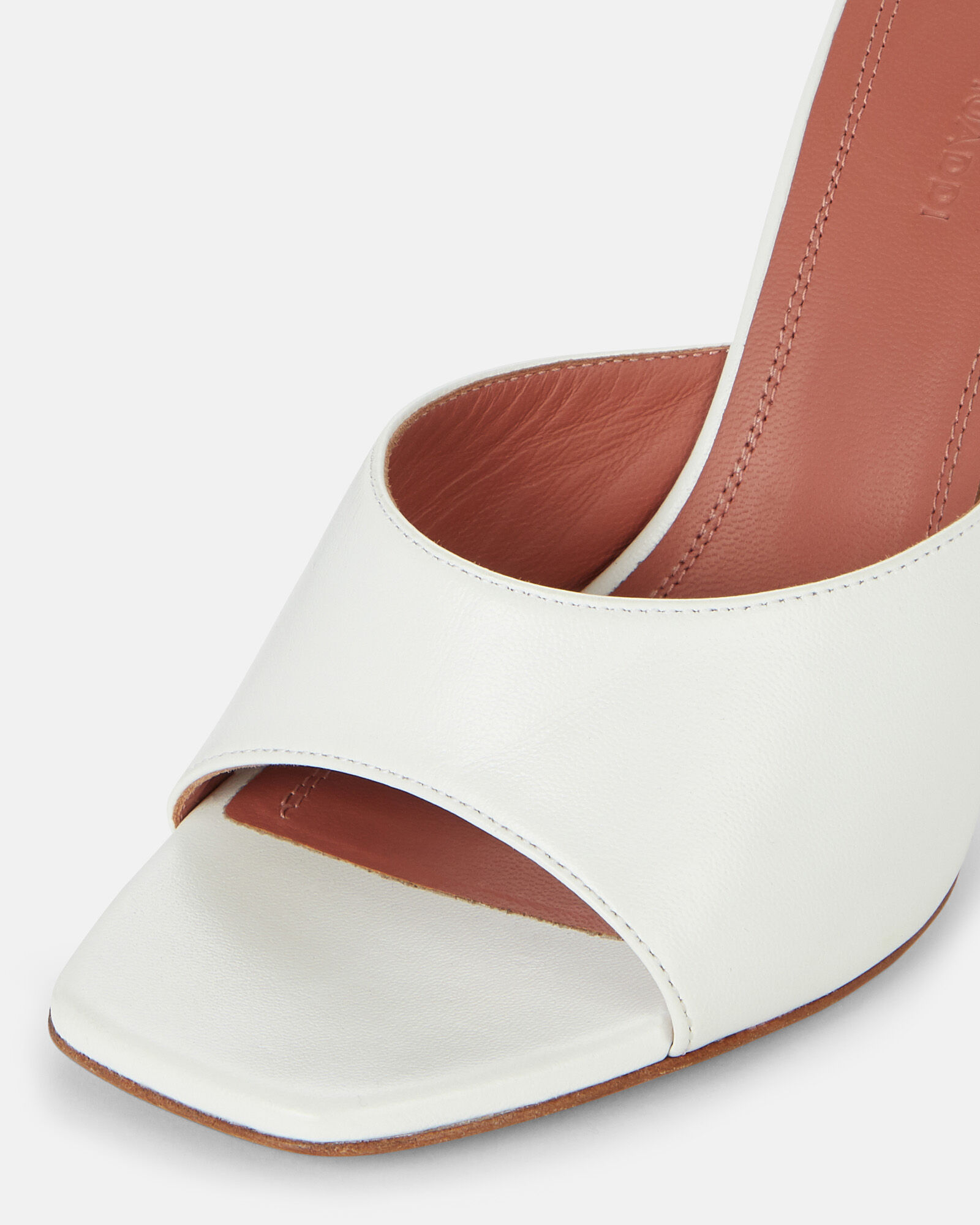 Lupita Leather Sandals, WHITE, hi-res