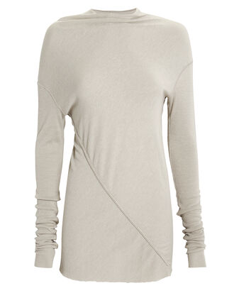 Gathered Knit Top, GREY, hi-res