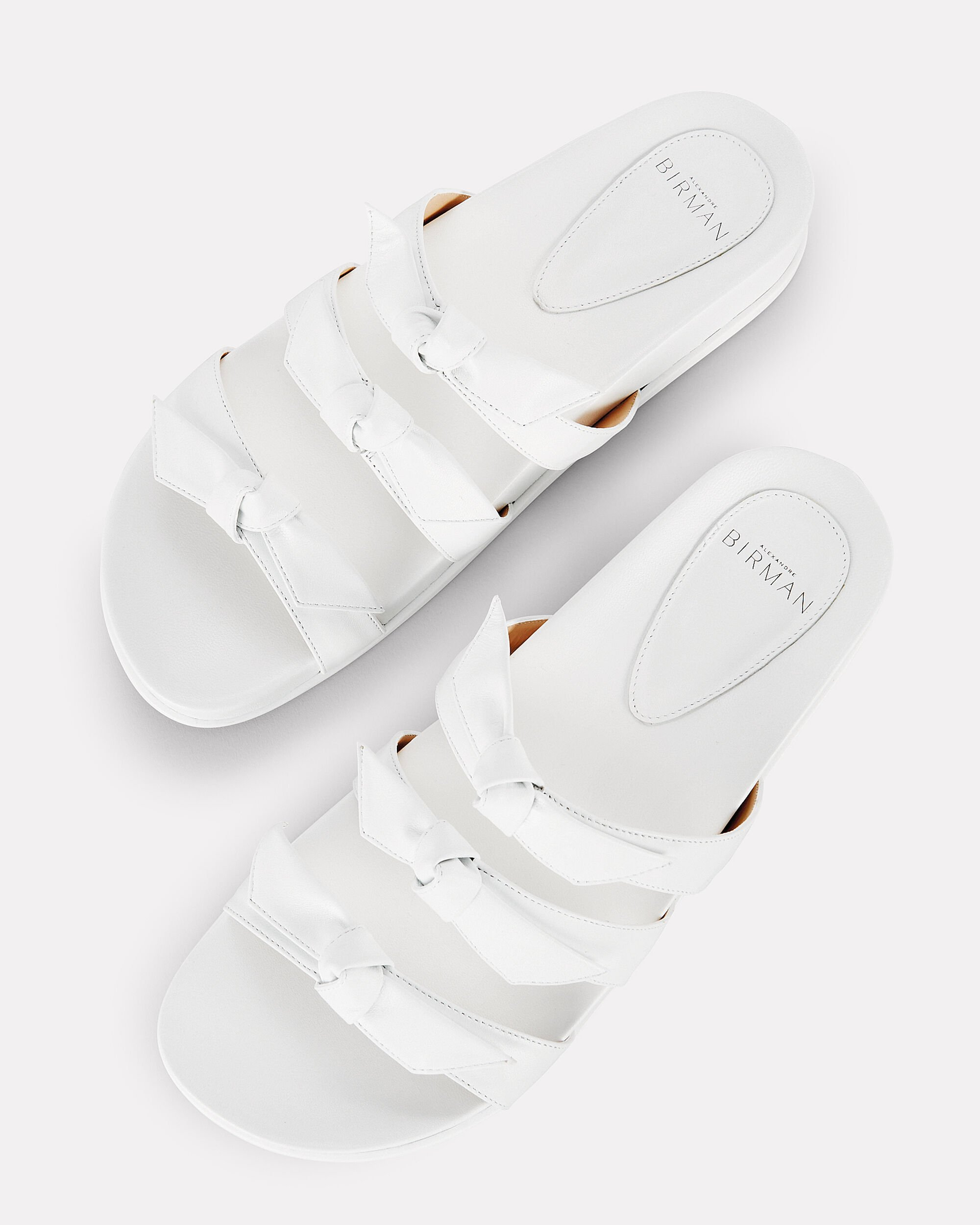 Lolita White Bow Flat Sandals, WHITE, hi-res
