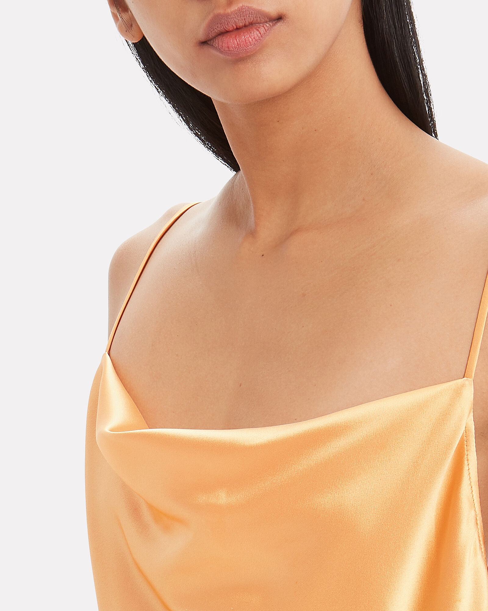 Cowl Neck Slip Dress, PEACH, hi-res