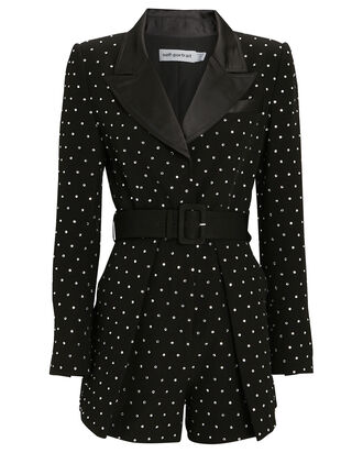 Diamante Blazer Romper, BLACK, hi-res
