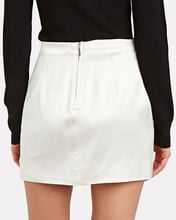 Tuscany Satin Mini Skirt, IVORY, hi-res