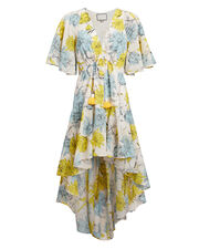 Idella High-Low Dress, WHITE/YELLOW/BLUE, hi-res