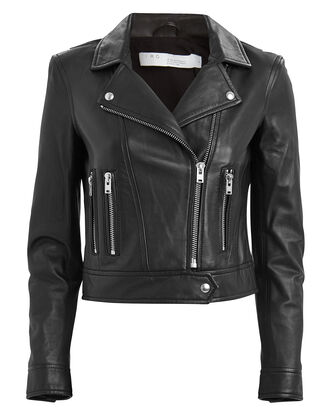Hartley Leather Moto Jacket, BLACK, hi-res