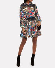 Caroline Chain Print Mini Dress, WHITE/RED/BLUE, hi-res