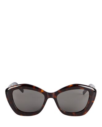 Pentagon Cat Eye Sunglasses, BROWN, hi-res