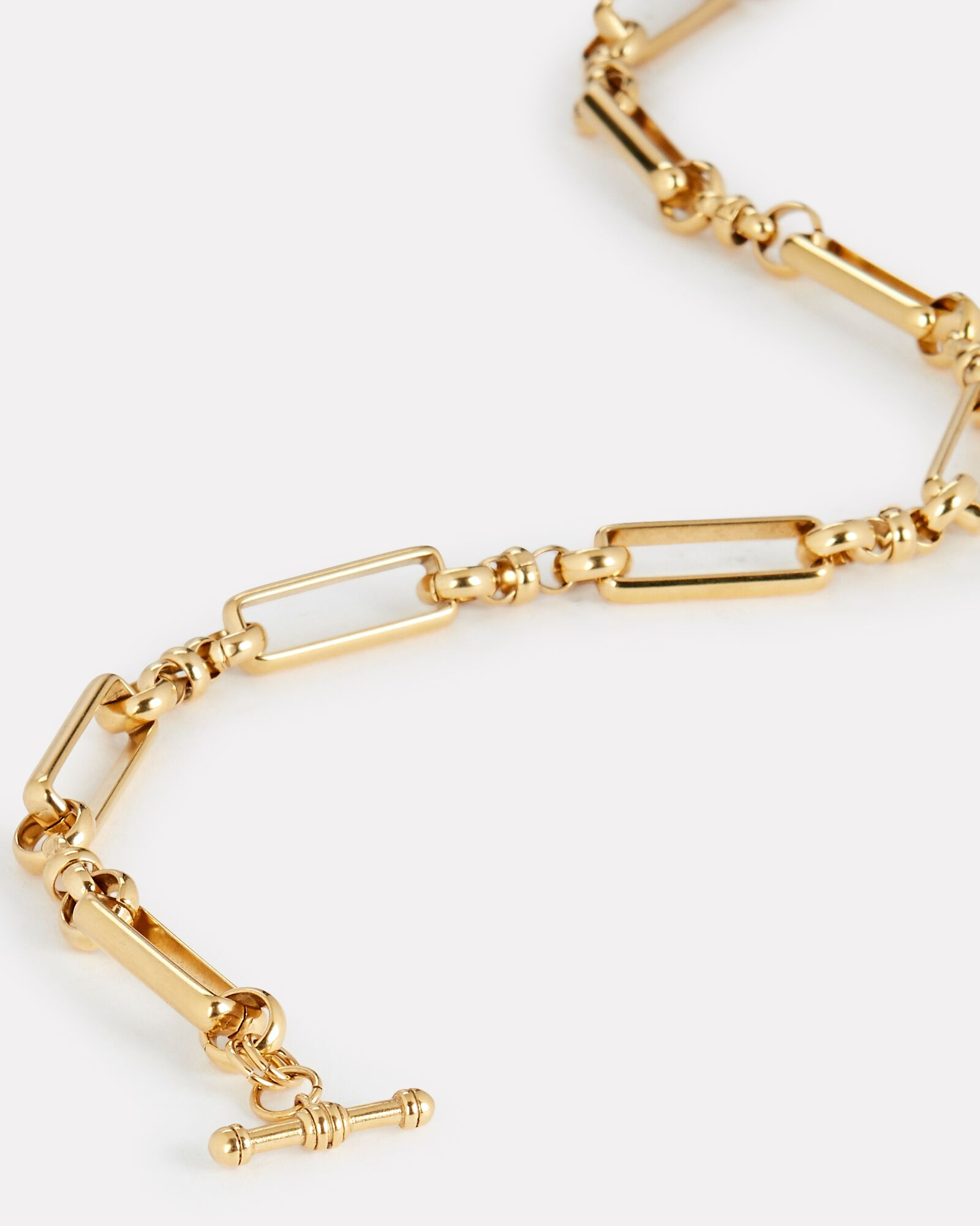 Check Mate Chain-Link Necklace, GOLD, hi-res