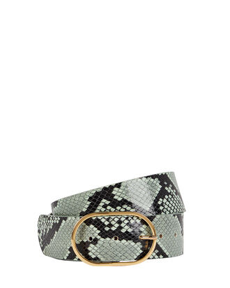 Emmie Python-Printed Leather Belt, PALE GREEN, hi-res