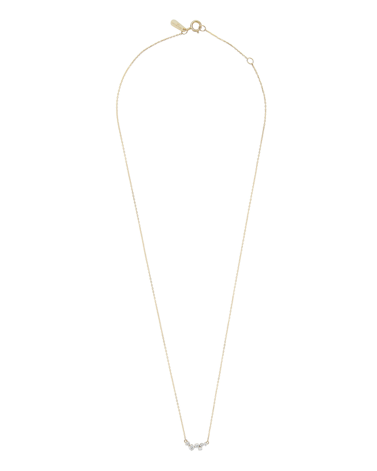 Scattered Diamond Necklace, GOLD, hi-res