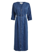 Annetta Denim Midi Dress, BLUE-MED, hi-res