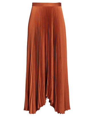 Laine Pleated Midi Skirt, RED-DRK, hi-res