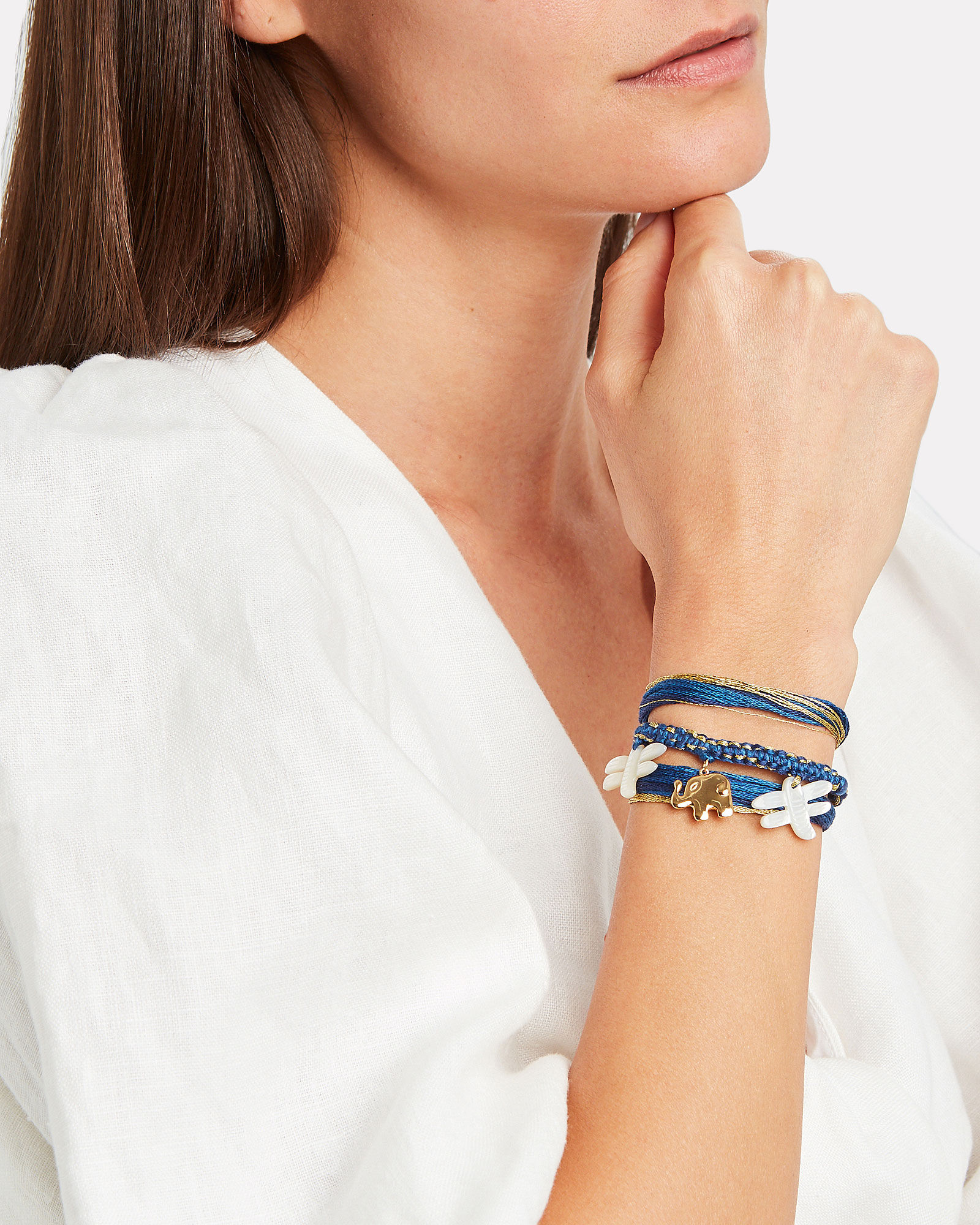 Honolulu Elephant Wrap Bracelet, BLUE-DRK, hi-res