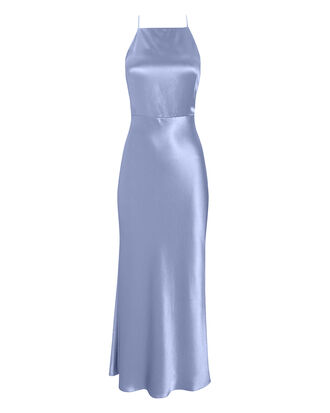 Lullaby Blue Satin Apron Dress, BLUE-LT, hi-res
