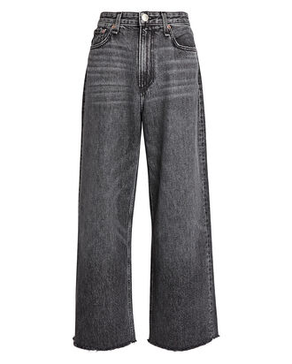 Ruth High-Rise Wide-Leg Jeans, FADED BLACK DENIM, hi-res