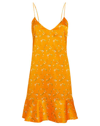 Tina Silk Slip Dress, ORANGE/FLORAL, hi-res