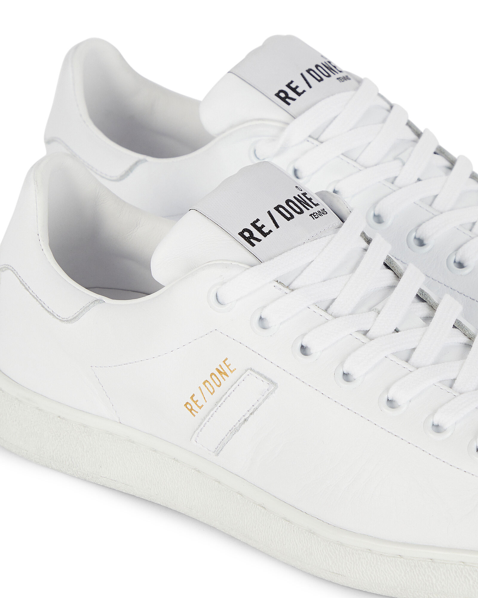 70s Leather Tennis Sneakers, WHITE, hi-res