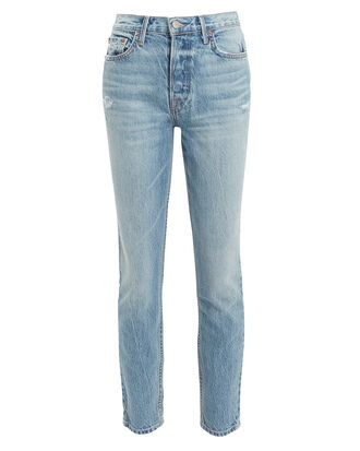 Karolina Light Blue Cropped Skinny Jeans, LIGHT BLUE DENIM, hi-res