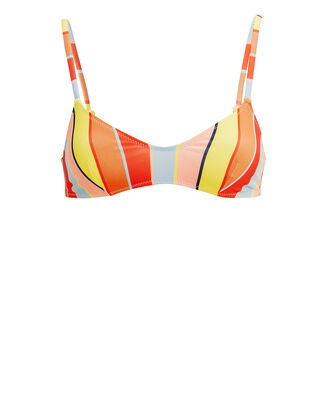 Rachel Cabana Striped Bikini Top, RED/BLUE/YELLOW, hi-res