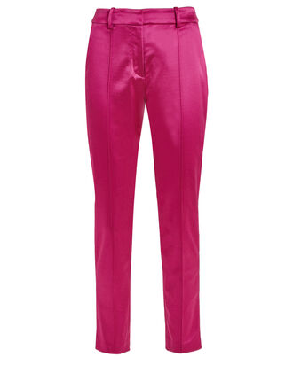 Lago Satin Trousers, PINK, hi-res