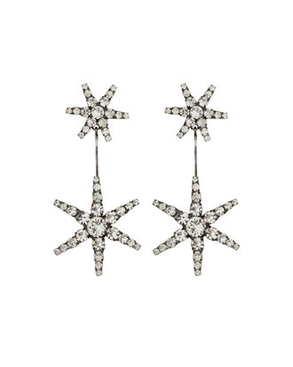 Estee Crystal Drop Earrings, SILVER/CRYSTAL, hi-res