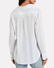 Charli Striped Button Front Shirt, BLUE-LT, hi-res