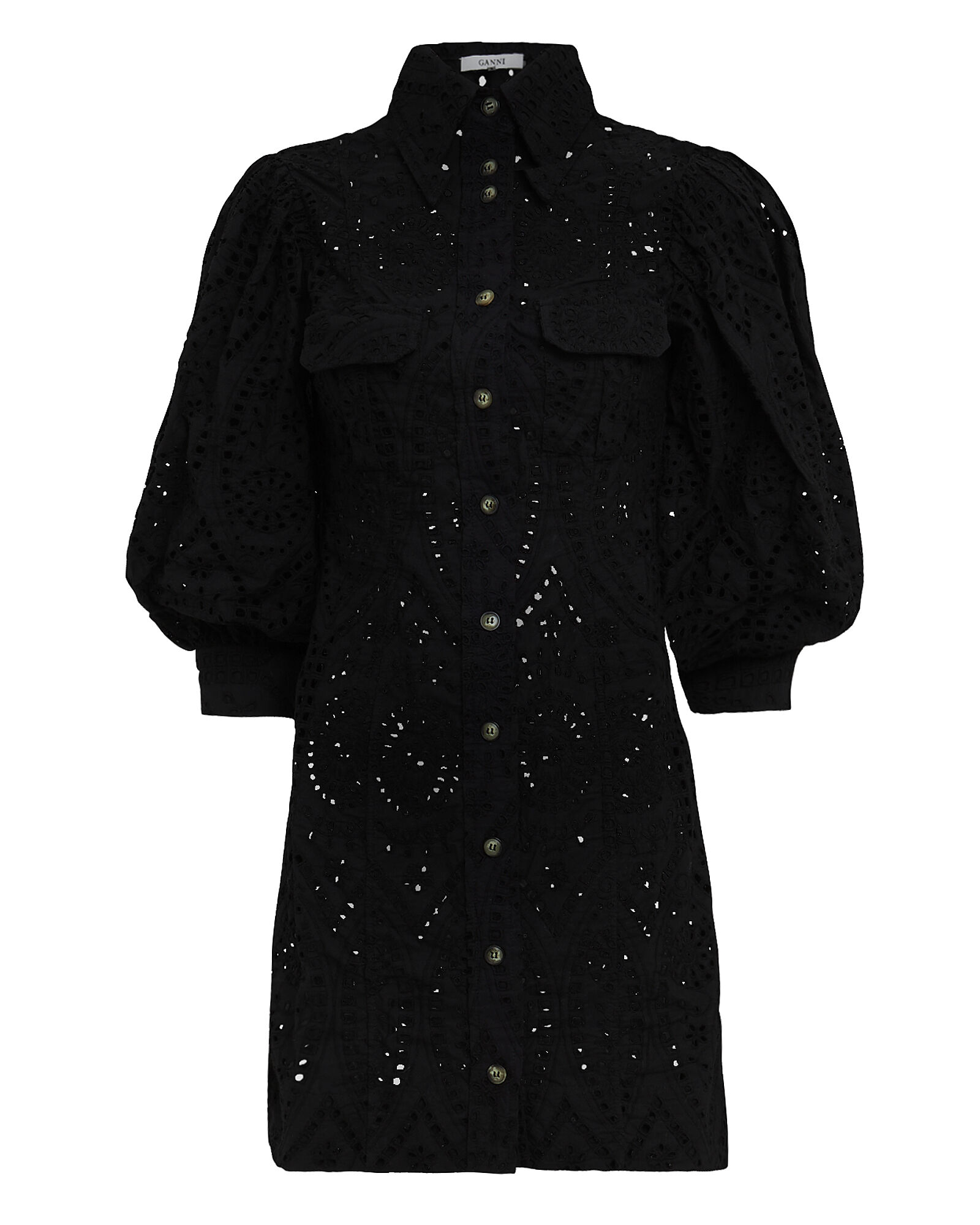 Broderie Anglaise Dress, BLACK, hi-res