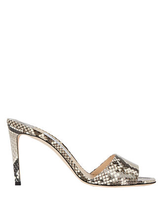Stacey 85 Python Slide Sandals, GREY, hi-res