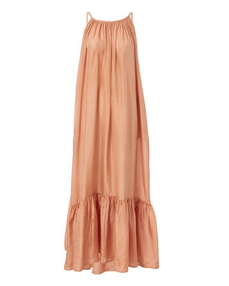 Brigitte Backless Maxi Dress, BEIGE/KHAKI, hi-res